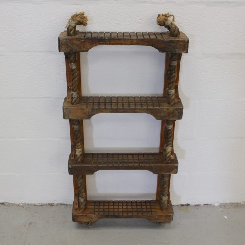Old wood and rope rack