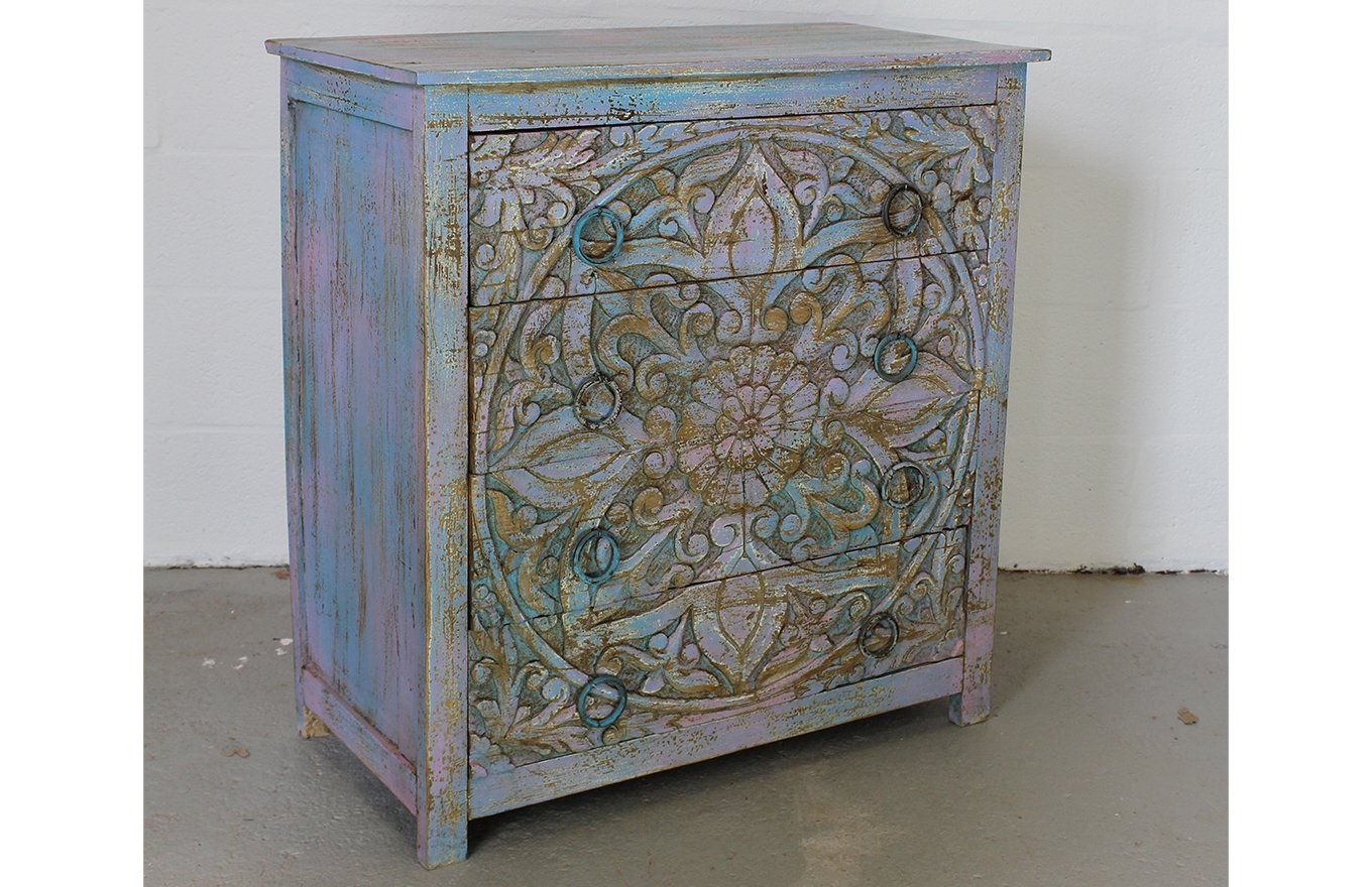 CD00005 VIENNE Floral Chest of Drawers
