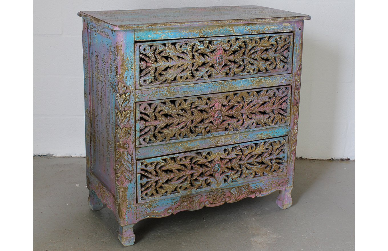 CD00006 VIENNE Carved Chest of Drawers