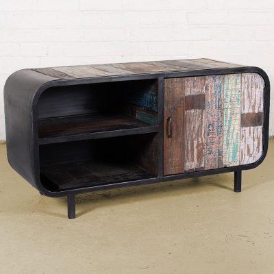 Industrial 2-shelf media unit with 1-door