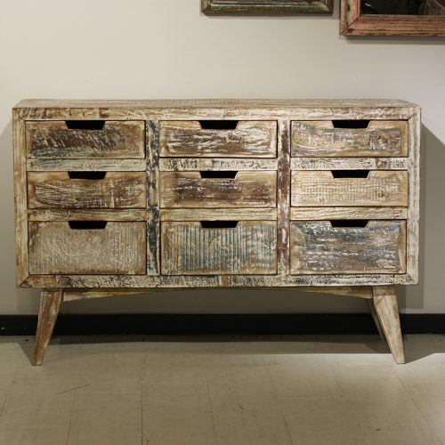9-Drawer console with a distinct paint scheme