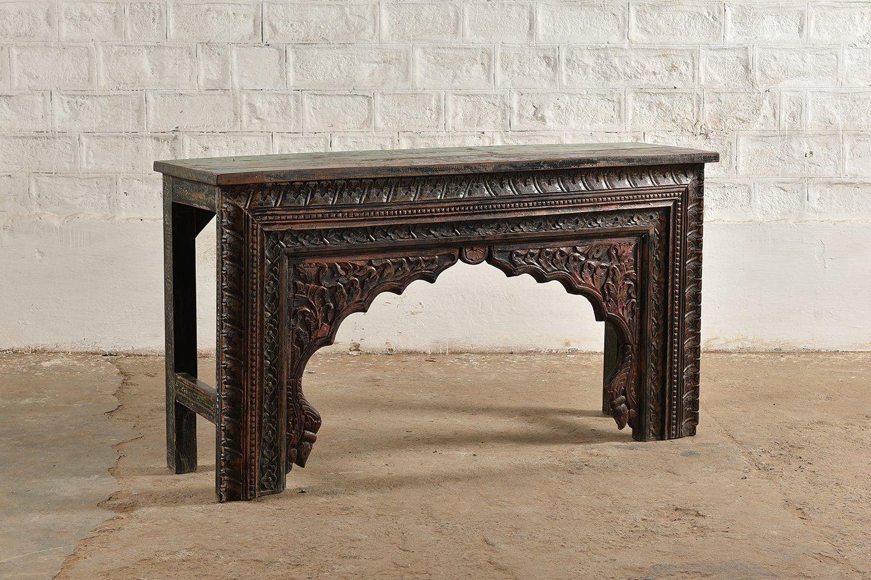 CS00218 HAMESHA Carved Console Table