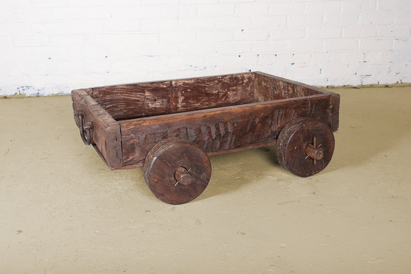 CT00116 VINTAGE Wooden Dolly Box-Cart