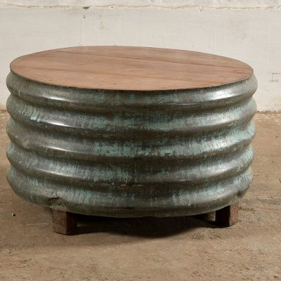 VINTAGE Round Barrel Coffee Table
