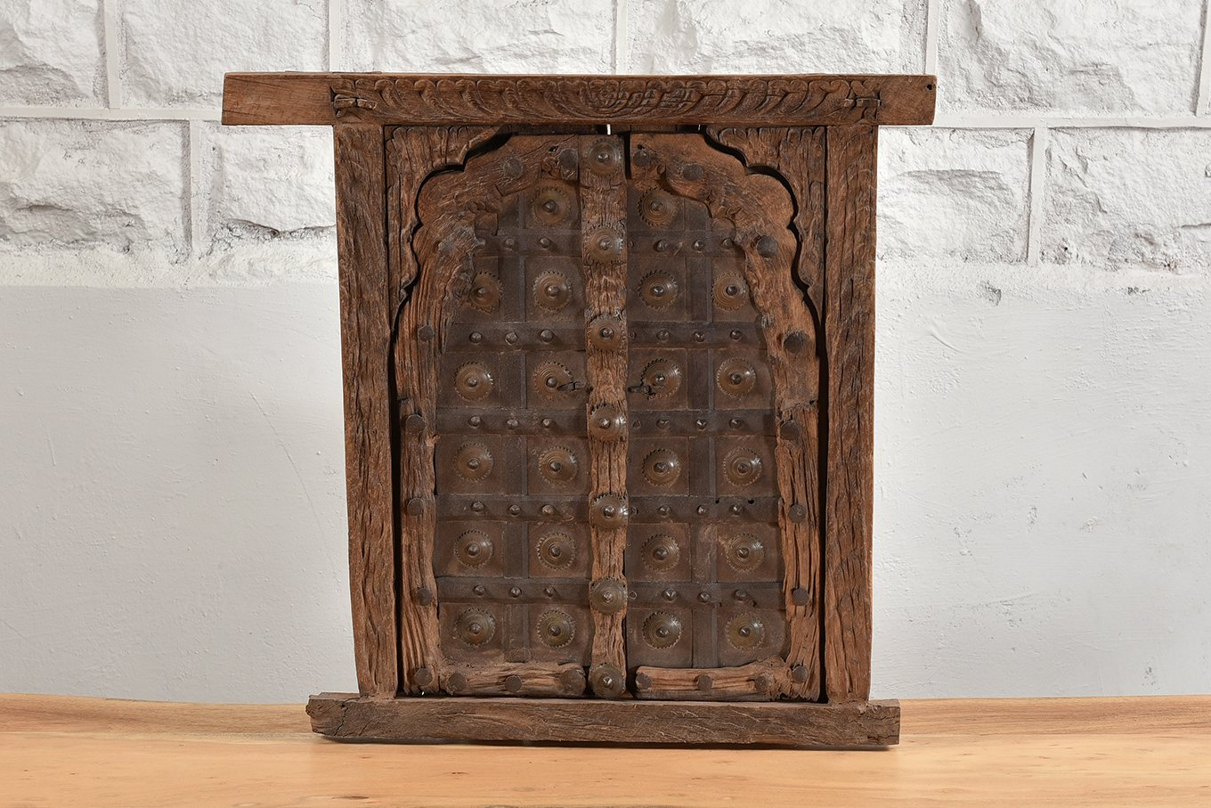 Traditional eastern window frame with shutter doors