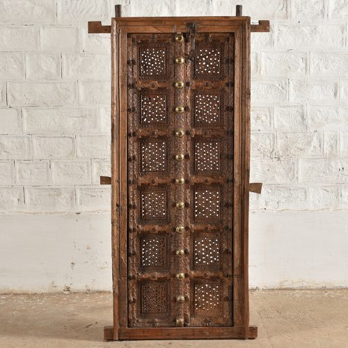 Original Rajasthani teak wood door