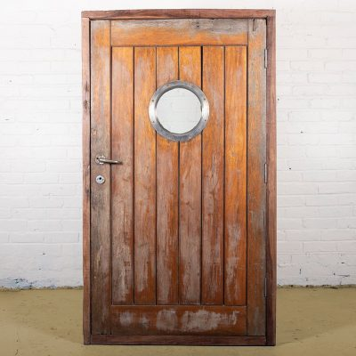 Original teak wood door from a ship