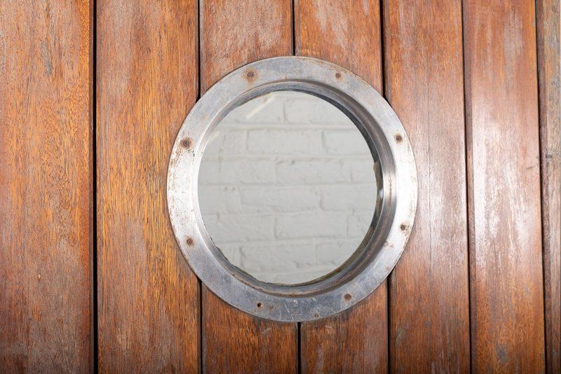 Original teak wood door from a ship