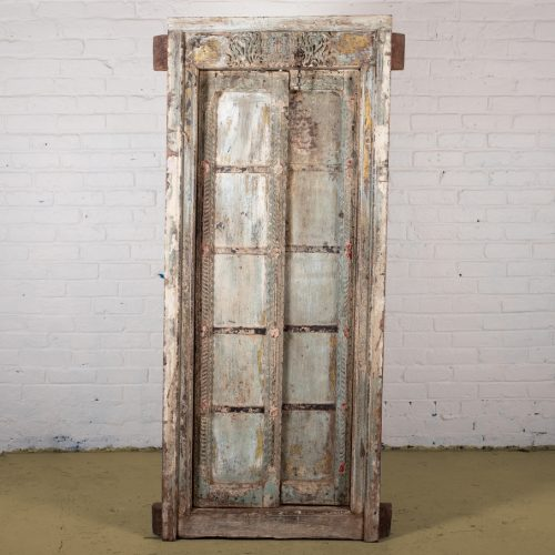 Original teak wood door and frame