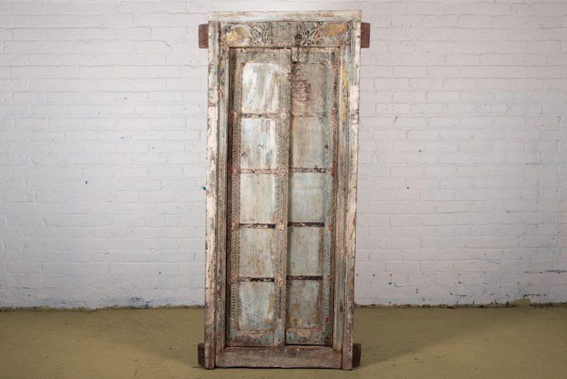 Original teak wood door and frame
