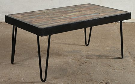 industrial mosaic coffee table