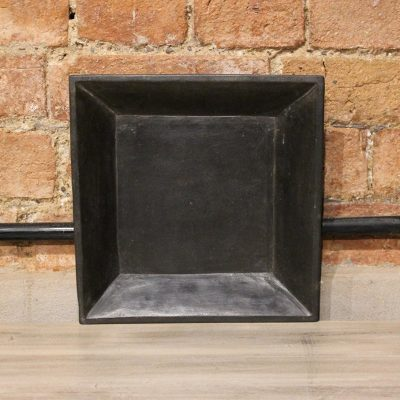Square matt black marble plate - small