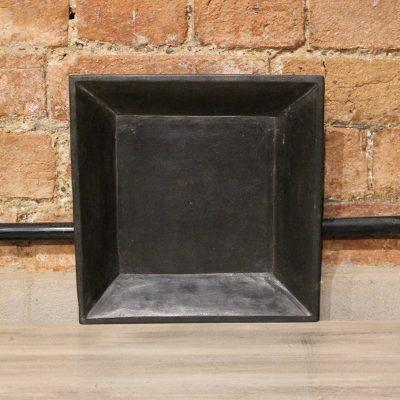 Square matt black marble plate - small