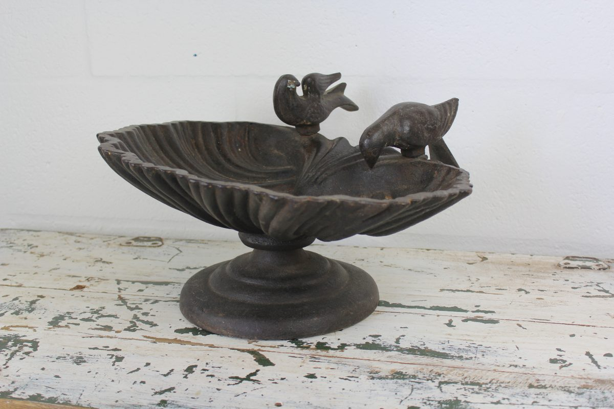 Vintage Iron Bird Bath