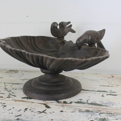 Vintage Iron Bird Bath