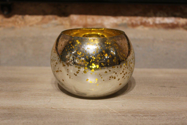 HC00565A Gold Tealight Holder