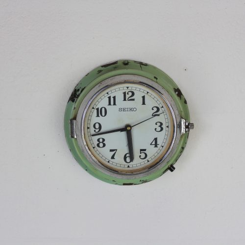 Green Seiko Vintage Wall Clock