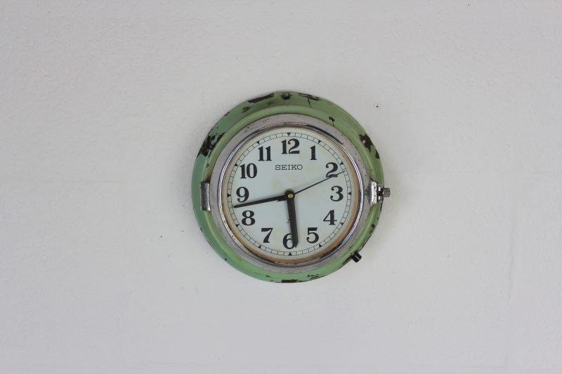 Green Seiko Vintage Wall Clock