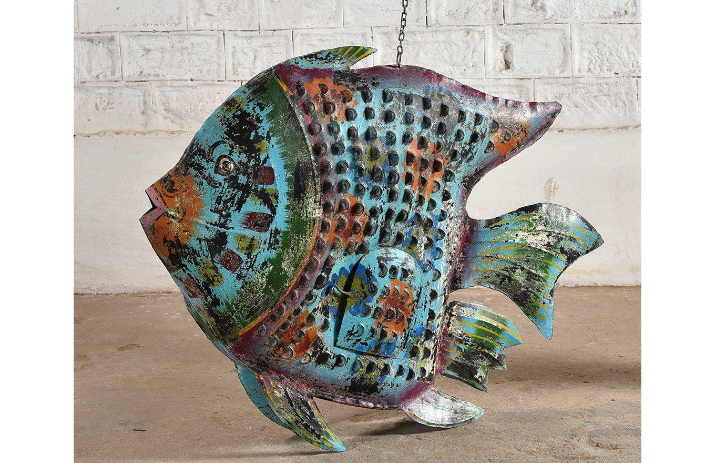 HC00740 Colouful Large Metal Fish