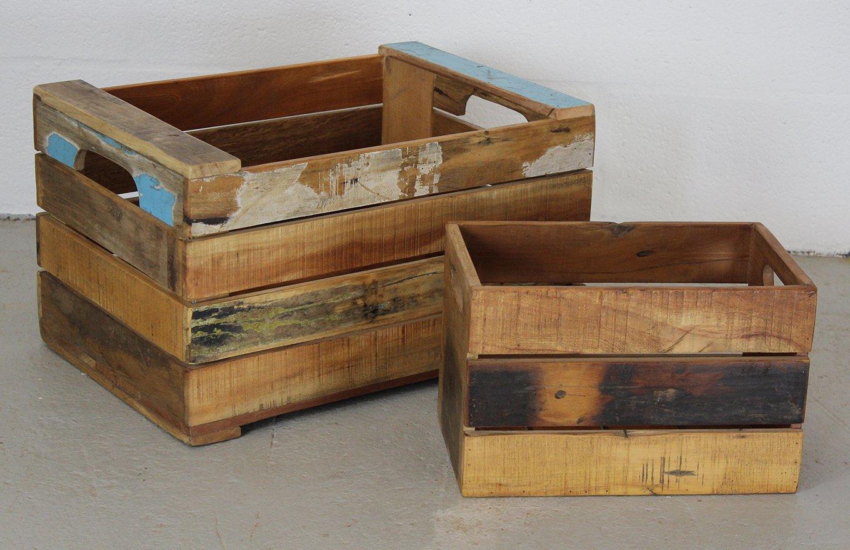 HC00764 STOCKHOLM Wooden Basket Large
