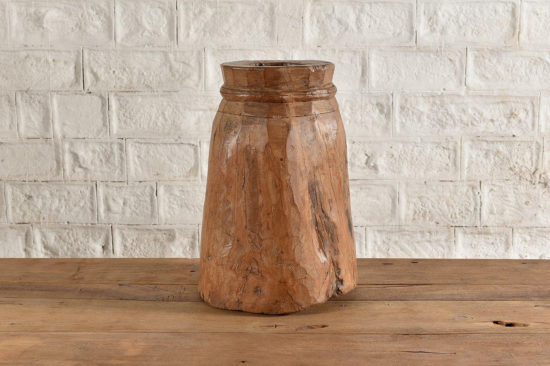HC00776 VINTAGE Wooden Vase