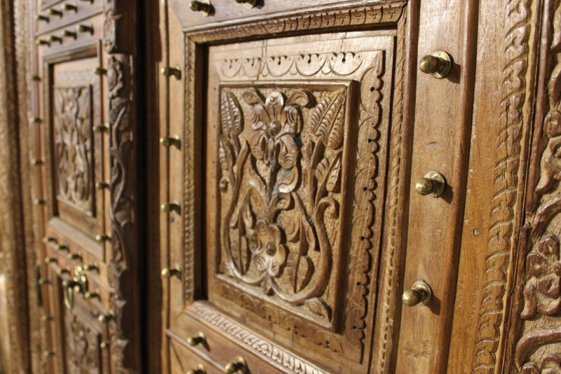 Larger than life grand cupboard made from old teak wood doors