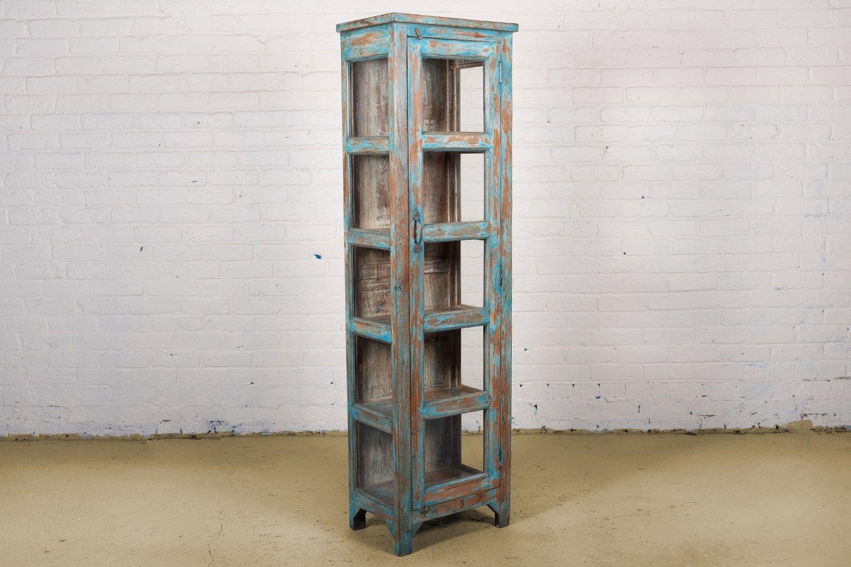 LC00066 HAMESHA Tall Blue Display Cabinet