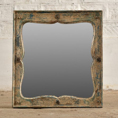 Original blue and white square mirror