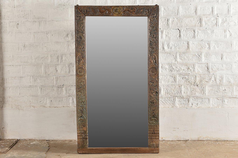 MR00145 HAMESHA Original Carved Mirror