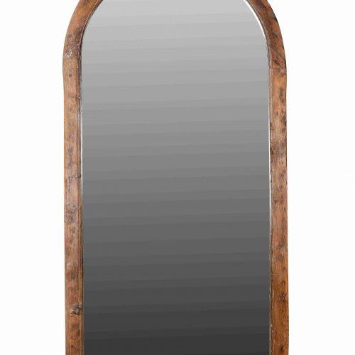 Original wooden pointed arch mirror
