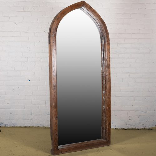 Original wooden pointed arch mirror