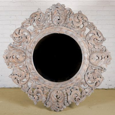 HAMESHA Ornate Round Mirror