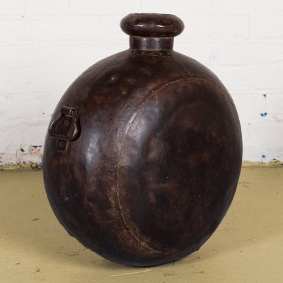 Old round iron jerry can