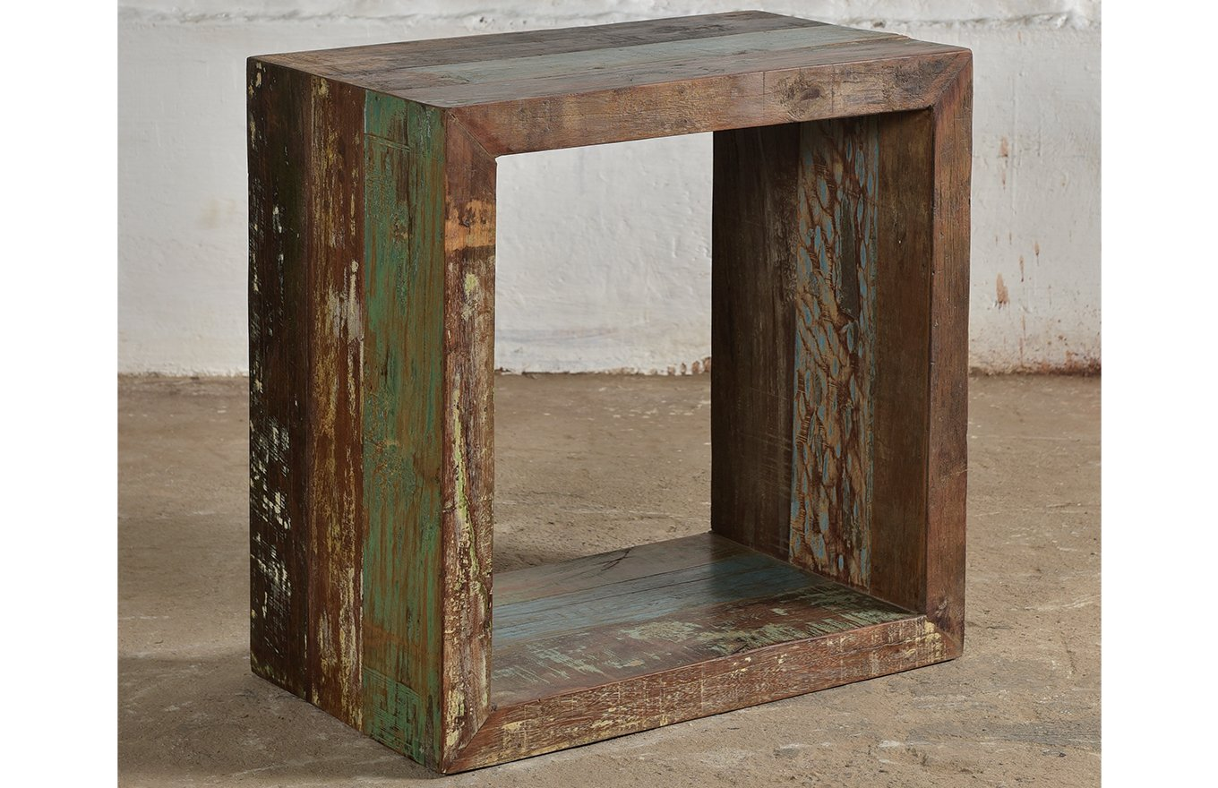 Reclaimed Wooden Cube bk00048l