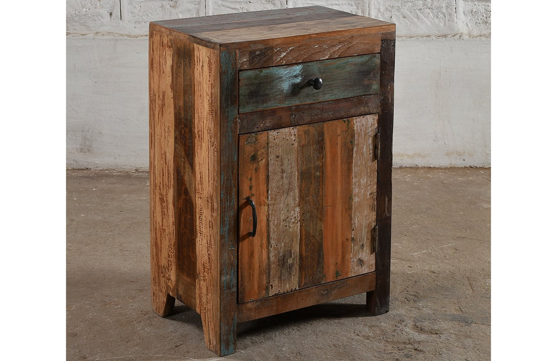 SC00271 STOCKHOLM Reclaimed Wooden Bedside Cabinet