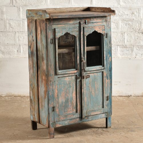 Original blue/ pink wooden cabinet