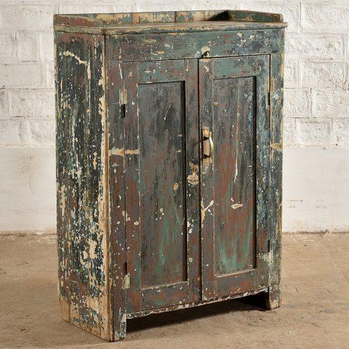 Original green wooden cabinet
