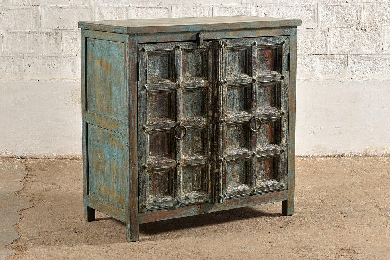 SC00318 HAMESHA Blue 2 Door Cabinet