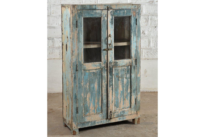 SC00323 HAVANA-2_Door Faded Blue Cabinet