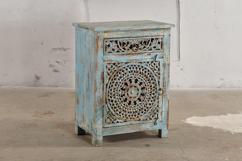 SC00327a HAVANA Blue Chic Cabinet