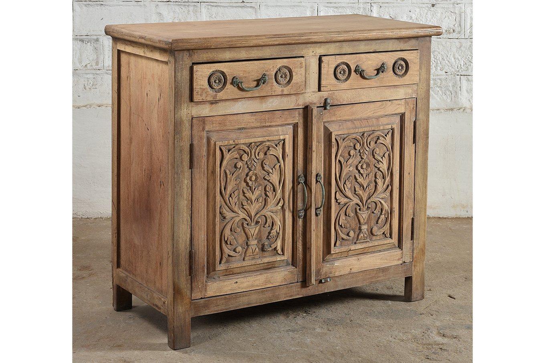 SC00324 HAMESHA Carved Cabinet
