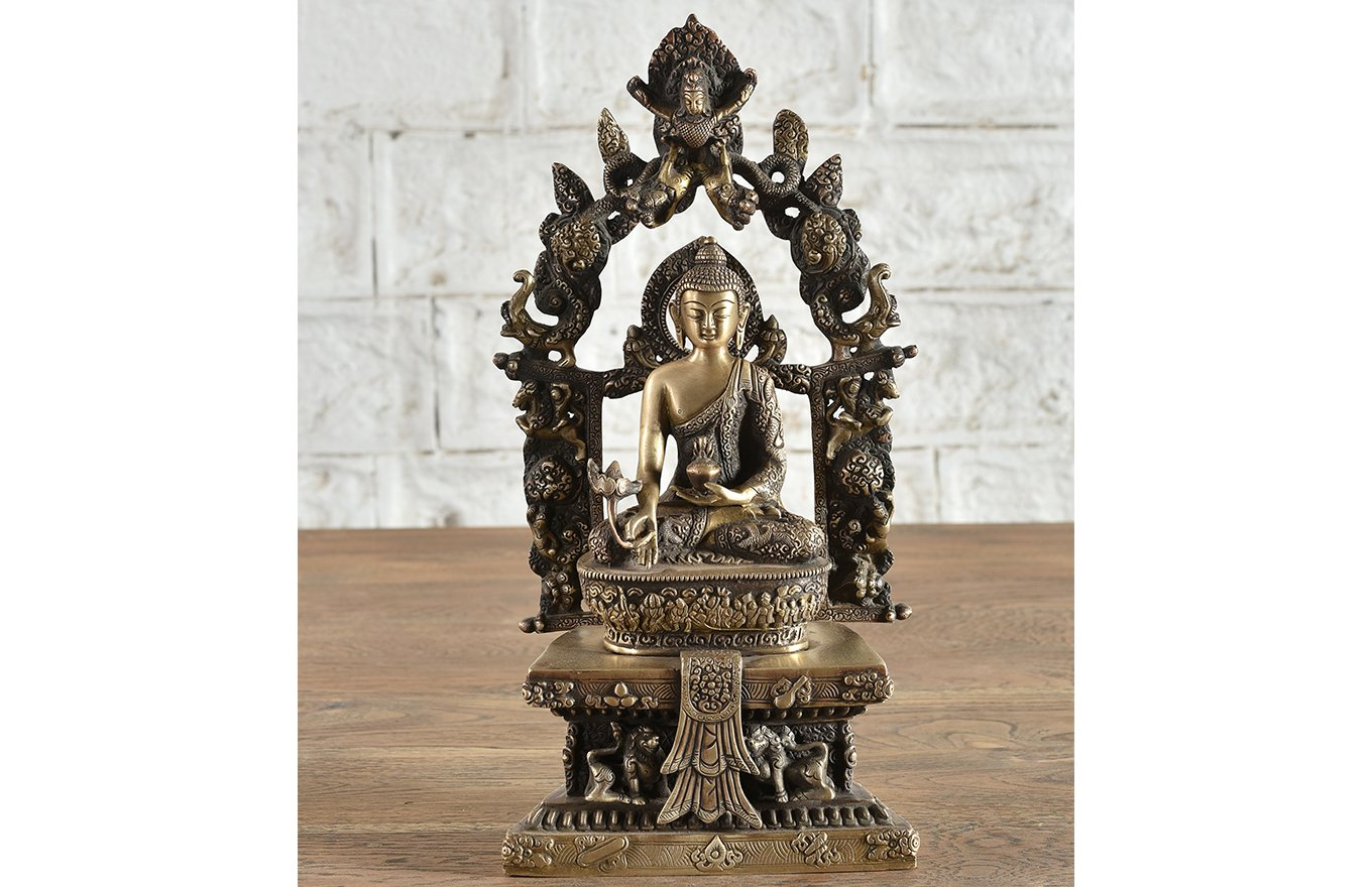 ST00002 Ornate Brass Buddha