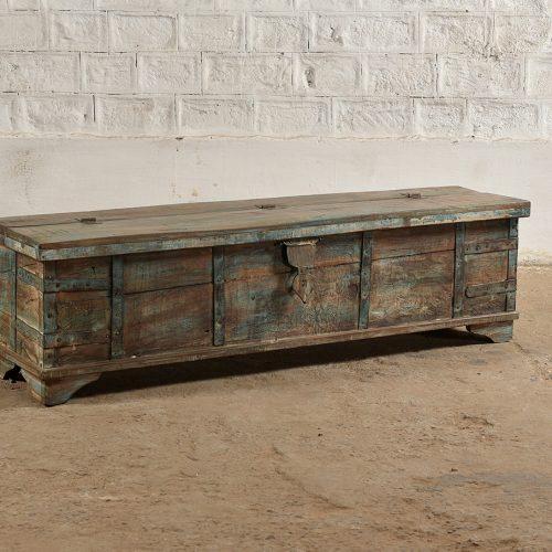 Original long wooden trunk