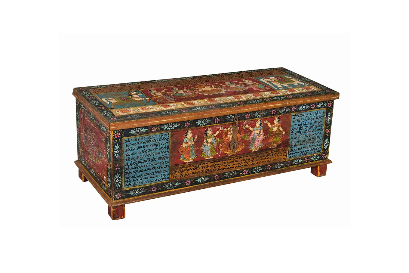 TC00126 HAMESHA Handpainted Trunk