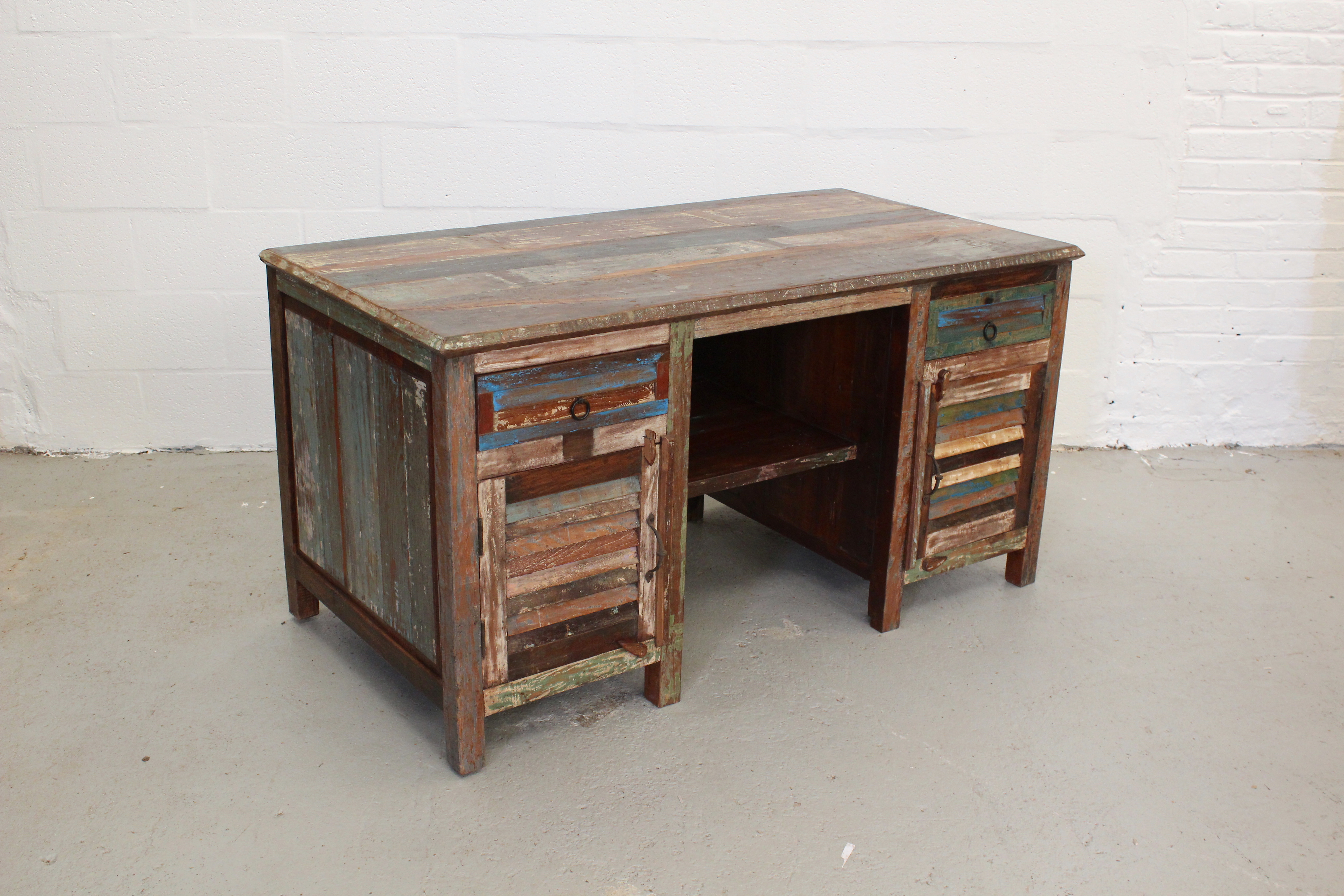 TS00053 SIBIU Colourful Reclaimed Desk