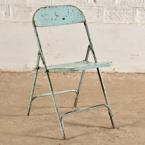Original folding metal chair