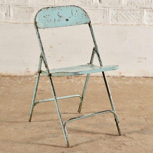 Original folding metal chair