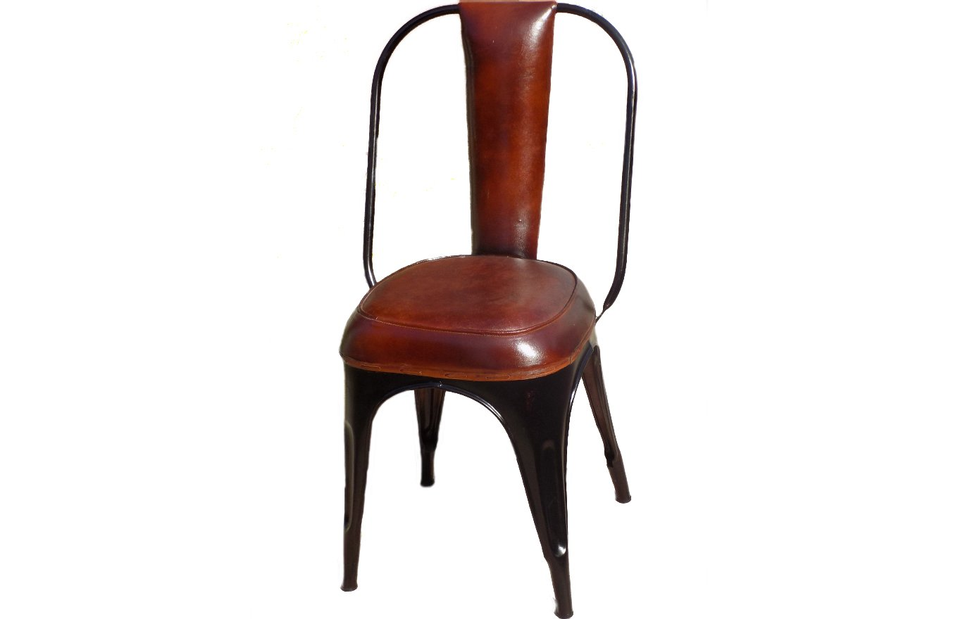 Industrial Metal Leather Chair TS00094