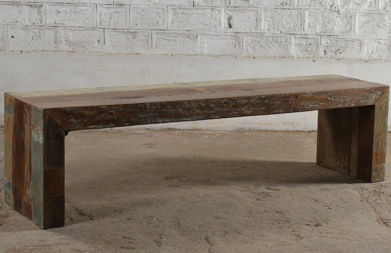 TS00143 STOCKHOLM Reclaimed Bench Seat