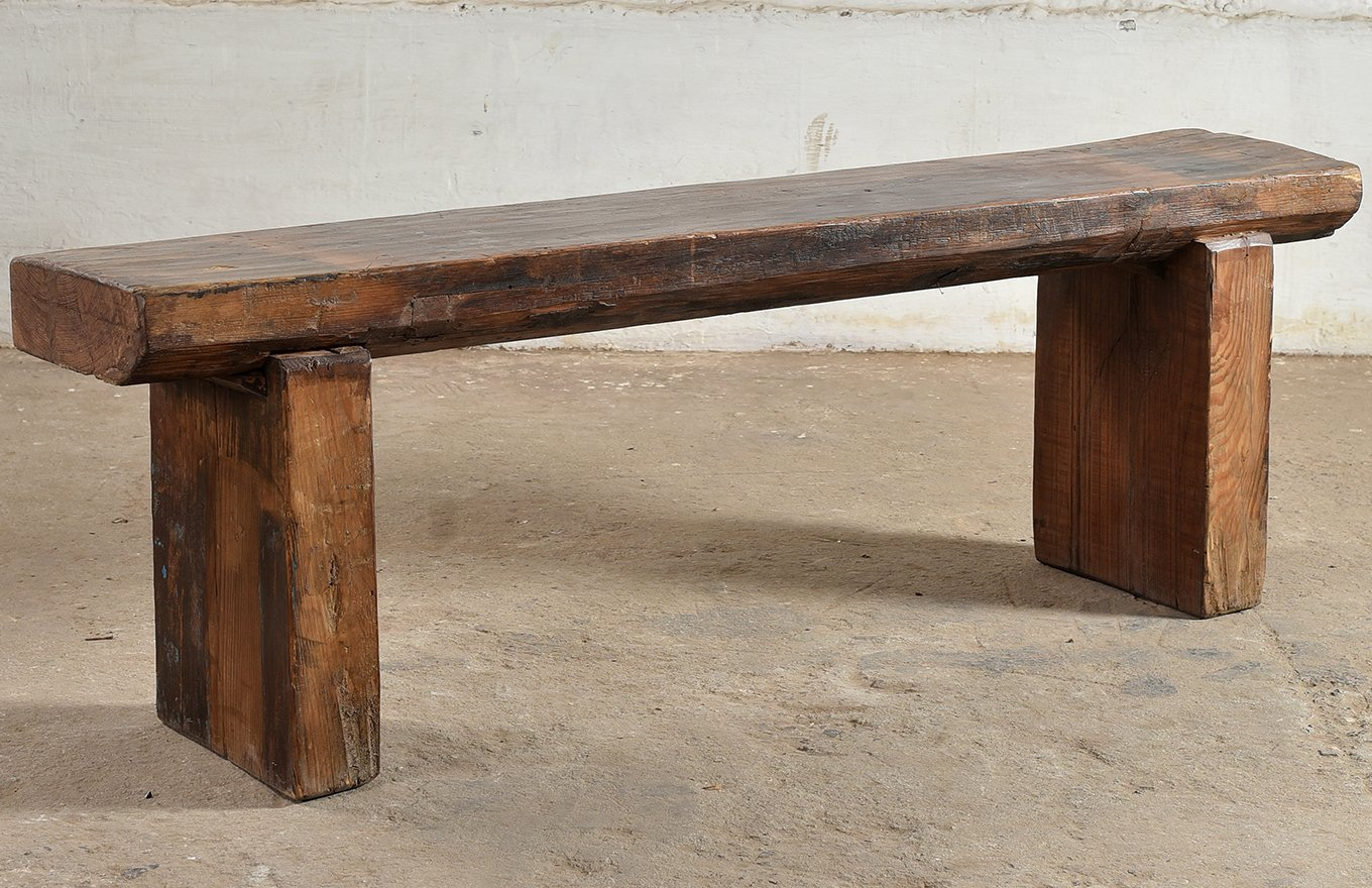 TS00144 STOCKHOLM Reclaimed Plank Bench